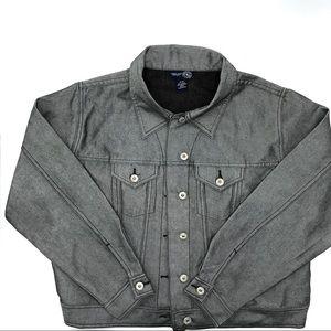 Venezia Jeans, Silvertone Jean Jacket, Size 14/16